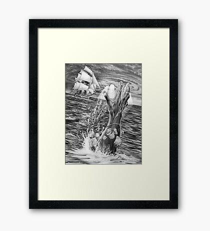 Neptune's Fury Framed Print