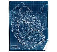Civil War Maps 2013 Map of Madison County Va Inverted Poster