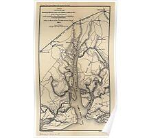Civil War Maps 0211 Broad River and its tributaries SC Poster