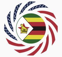 Zimbabwean American Multinational Patriot Flag Series One Piece - Long Sleeve