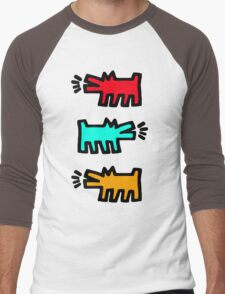HARING Men's Baseball ¾ T-Shirt