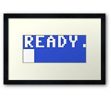 Commodore 64 - C64 - Ready. Framed Print