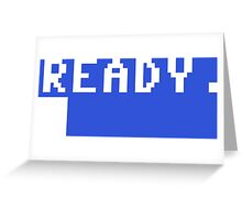Commodore 64 - C64 - Ready. Greeting Card