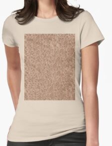 Red Snake Bark Maple Leaves  Womens Fitted T-Shirt