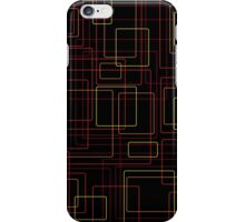 Flame boxes on black iPhone Case/Skin