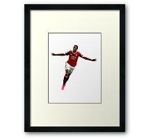 Anthony Martial Transparent Manchester united Framed Print