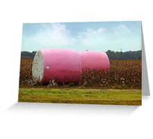 The Breast Cancer Awareness Pink Cotton Bales Greeting Card