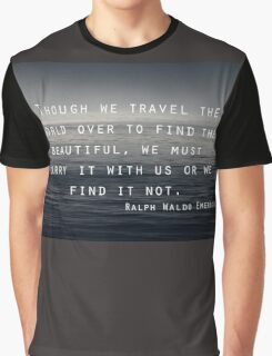 Though we Travel - Emerson Graphic T-Shirt