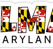 Delmar Maryland flag word art Sticker