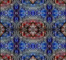 Feathers in red and blue by MigBardsley