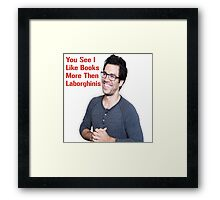 Tai Lopez Shirts/Bags/Note Books Framed Print