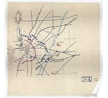 Civil War Maps 2224 Sketch of the Battle of Winchester September 19 1864 Poster