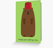 Happy Groundhog's Day » Arsenical Green Wallpaper Greeting Card