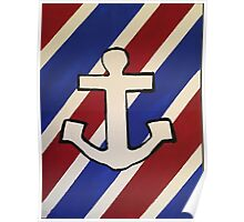 Striped Anchor  Poster