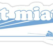 Drift Miata Blue Sticker