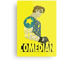 Watchmen - The Comedian - Typography  Metal Print