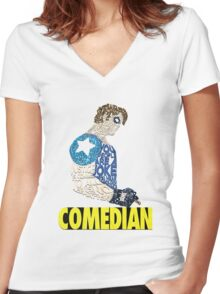 Watchmen - The Comedian - Typography  Women's Fitted V-Neck T-Shirt