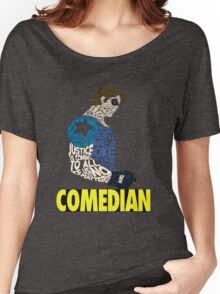 Watchmen - The Comedian - Typography  Women's Relaxed Fit T-Shirt