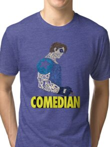 Watchmen - The Comedian - Typography  Tri-blend T-Shirt