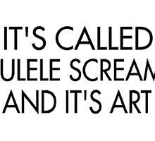 it's called ukulele screamo and it's art by Emily Grimaldi