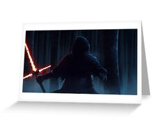Star Wars VII The Force Awakens Kylo Ren HD Greeting Card