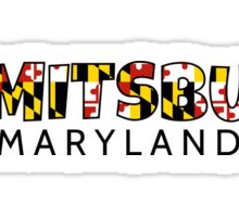 Emmitsburg Maryland flag word art Sticker