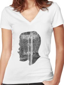 Peace of Mind Women's Fitted V-Neck T-Shirt