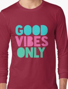 Good Vibes Only Pastel Long Sleeve T-Shirt