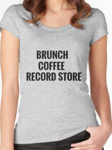 Brunch, Coffee, Record Store Women's Fitted Scoop T-Shirt