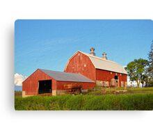 Reed Avenue Barn Textured Canvas Print
