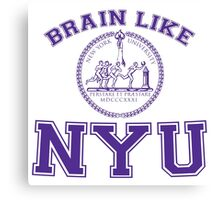 Brain Like NYU Canvas Print