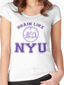 Brain Like NYU Women's Fitted Scoop T-Shirt