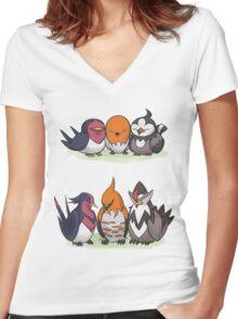 Pokémon Generation Birds Women's Fitted V-Neck T-Shirt