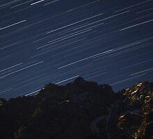 Star Trails above the Alps by Reggina