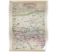 Civil War Maps 1587 Sherman's march from Atlanta to the sea Drawn from official map of Brig Genl O M Poe Chief Engineer Poster