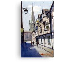 Church Street, Shrewsbury, England Canvas Print