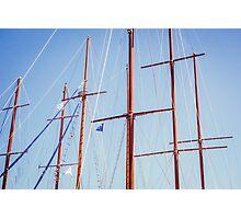 Sails in Santorini Photographic Print