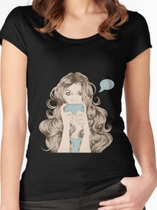 Portrait of Woman #4 Women's Fitted Scoop T-Shirt