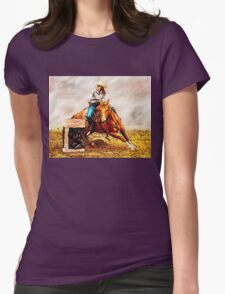 Race the Barrels Womens Fitted T-Shirt