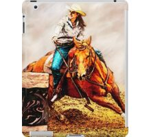 Race the Barrels iPad Case/Skin
