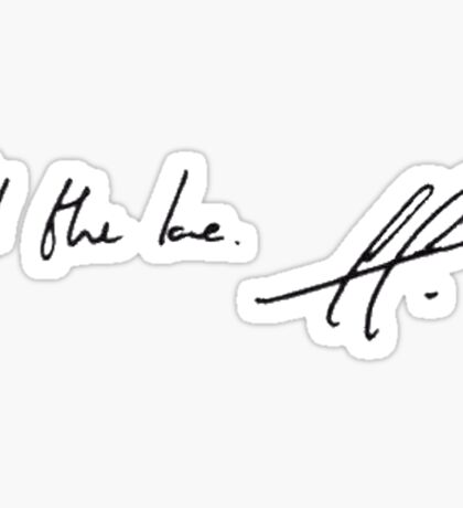 All the love. H. - Harry Styles handwriting  Sticker