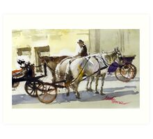 Fiakers of Vienna Art Print