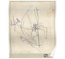 Civil War Maps 1115 McPherson at Snake Creek Gap May 8-13 1864 Poster