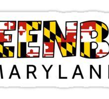 Greenbelt Maryland flag word art Sticker