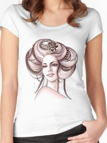Portrait of Woman #8 Women's Fitted Scoop T-Shirt