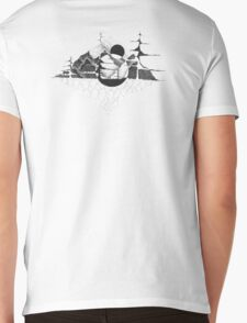 Mountains in a world of their own Mens V-Neck T-Shirt