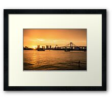 Rainbow Bridge Tokyo Framed Print