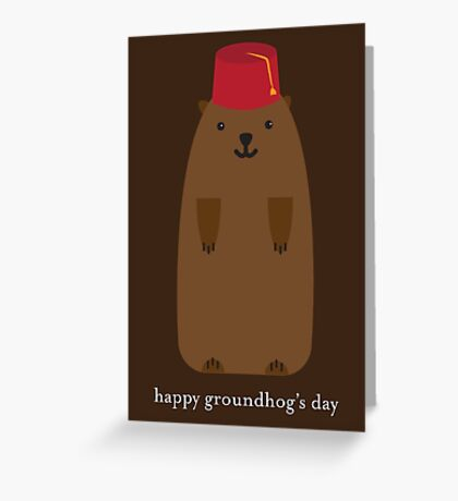 Happy Groundhog's Day » Brown on Brown Edition Greeting Card