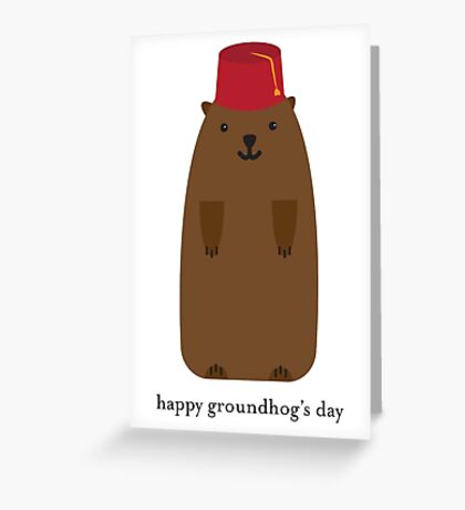 Happy Groundhog's Day » Classic White Background Edition Greeting Card