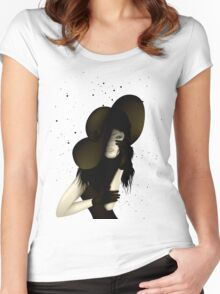 Portrait of Woman #9 Women's Fitted Scoop T-Shirt